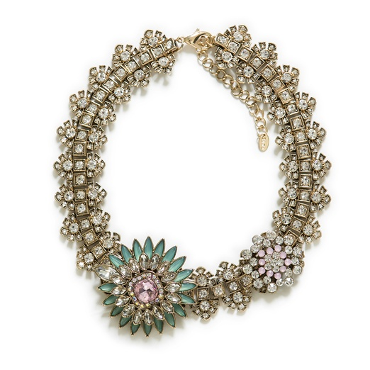 Best Statement Necklaces - Zara Crystal Flower Necklace