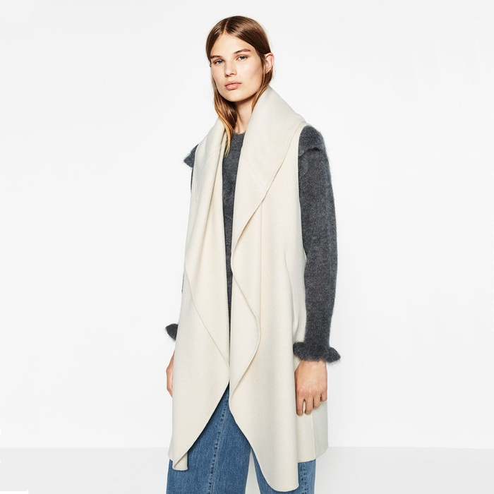 Best Fashion Vests - Zara Draped Waistcoat