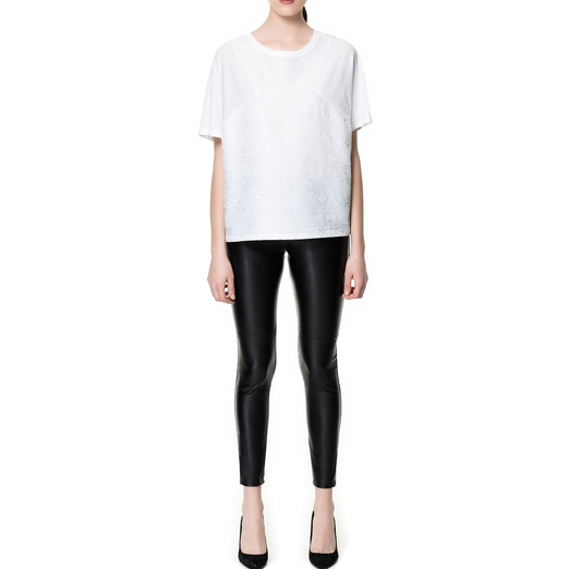 Best Faux Leather Leggings - Zara Faux Leather Leggings with Seams on the Knees