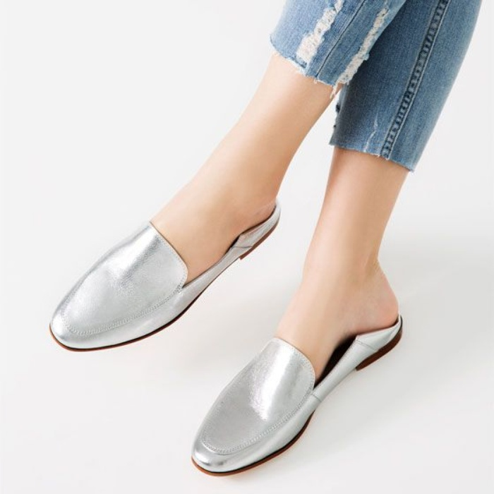 Best Metallic Shoes Under $150 - Zara Laminated Leather Loafers