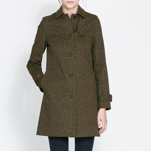Best Fall Trench Coats - Zara Printed Cotton Trench Coat