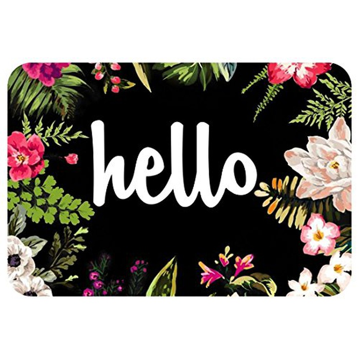 Best Doormats - ZBLX Hello Flowers Doormat