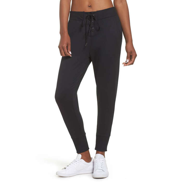 Best Workout Pants - Zella Lace & Repeat Crop Pants