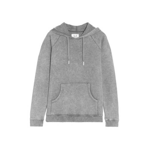 Best Stylish Hoodies - Zoe Karssen Faded Cotton-Blend Jersey Hooded Sweatshirt